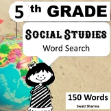 20 Fifth Grade Social Studies, Word Search Worksheets, Vocabulary Activity