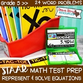 Fifth Grade Solve Problems Math Test Prep Review Game | 5th Grade TEKS