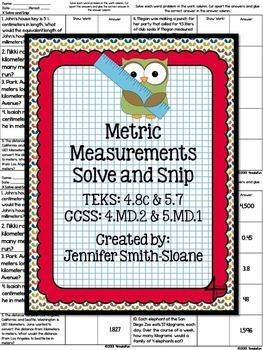 Fifth Grade Solve and Snips Bundle - Interactive Math Word Problems