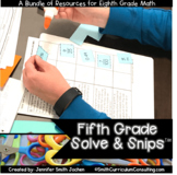 Fifth Grade Solve and Snips Bundle - Interactive Math Word