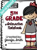 *SALE* Fifth Grade Spiral Bound Full Year Interactive Notebook