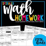 5th Grade Math Homework Spiral Review