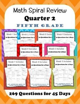 Fifth Grade Spiral Review, Quarter 2