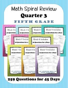 Fifth Grade Spiral Review, Quarter 3