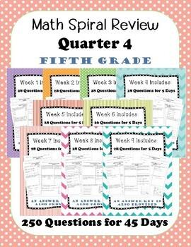 Fifth Grade Spiral Review, Quarter 4