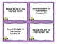Fifth Grade Spiral Task Cards for October