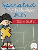 Fifth Grade Spiraled Math Review