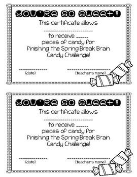 Fifth Grade Spring Break Packet