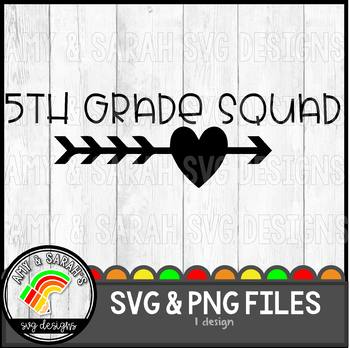 Fifth Grade Squad SVG Design