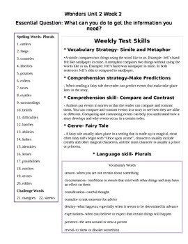 Fifth Grade Study Guide Unit 2 Week 2 McGraw Hill Wonders