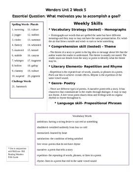 Fifth Grade Study Guide Unit 2 Week 5 McGraw Hill Wonders
