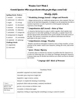 Fifth Grade Study Guide Unit 4 Week 2 McGraw Hill Wonders