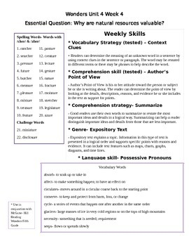 Fifth Grade Study Guide Unit 4 Week 4 McGraw Hill Wonders