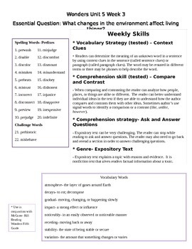 Fifth Grade Study Guide Unit 5 Week 3 McGraw Hill Wonders