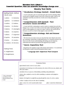 Fifth Grade Study Guide Unit 5 Week 4 McGraw Hill Wonders