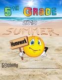Fifth Grade Summer Homework