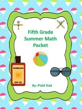 Fifth Grade Summer Math Packet
