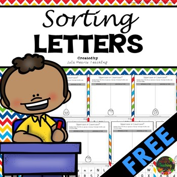 FREE Letter Sorts (Uppercase and Lowercase Letters of the Alphabet)