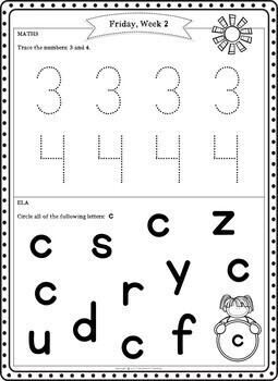 Preschool Summer Packet (Pre K Summer Review Homework)