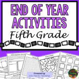 5th Grade End of Year Activities (5th Grade Last Week of School Activities)
