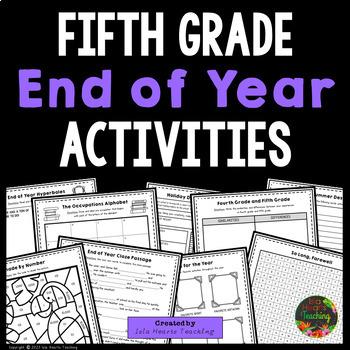 5th Grade End of Year Activities (5th Grade Last Week of School Activities)