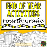 4th Grade End of Year Activities (4th Grade Last Week of School Activities)