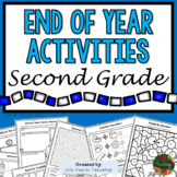 2nd Grade End of Year Activities (2nd Grade Last Week of School Activities)