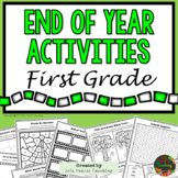 1st Grade End of Year Activities (1st Grade Last Week of School Activities)