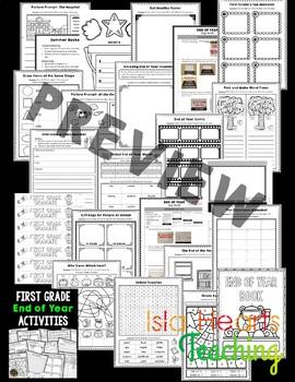 1st Grade End of Year Activities (1st Grade Last Week of School Activities)