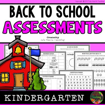Kindergarten Back to School Assessments (Kindergarten Beginning of the Year)
