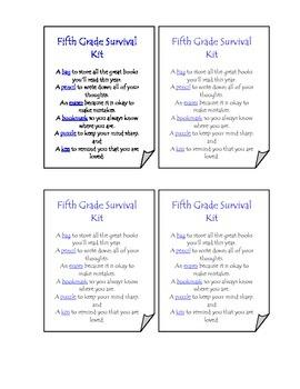 Fifth Grade Survival Kit