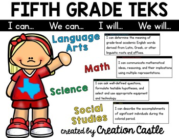 Fifth Grade TEKS Bundle - Can and Will Standards Statements