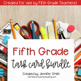 Fifth Grade Task Card Bundle of Resources for Interactive