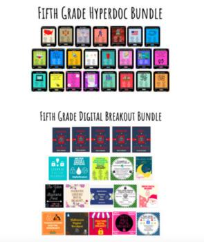 Fifth Grade Technology Bundle: Hyperdocs and Digital Breakouts