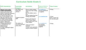 Fifth Grade Technology Curriculum Guide