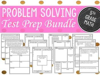 Fifth Grade Test Prep/ Problem Solving Stations Bundle