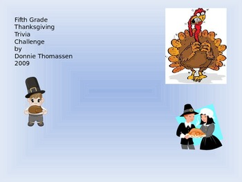 Fifth Grade Thanksgiving Trivia Challenge