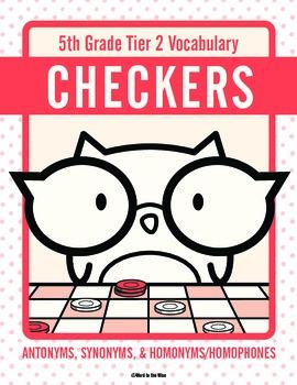 Fifth Grade Tier 2 Vocabulary Checkers