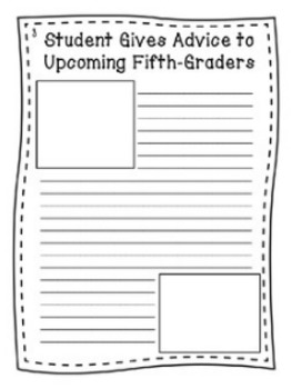 """End of Year Writing Activity - """"Fifth Grade Times"""""""