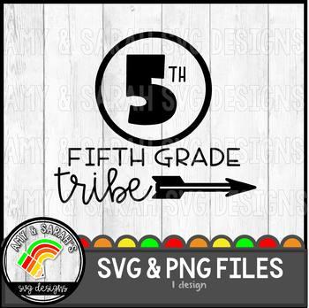 Fifth Grade Tribe SVG Design
