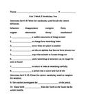 Fifth Grade Unit 2 Week 3 Vocabulary test McGraw Hill Wonders
