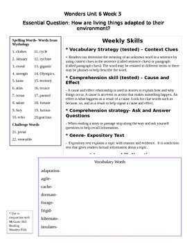 Fifth Grade Unit 6 Week 3 Study Guide McGraw Hill Wonders