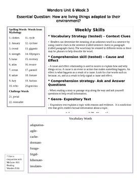 Fifth Grade Unit 6 Week 3 Study Guide McGraw Hill Wonders