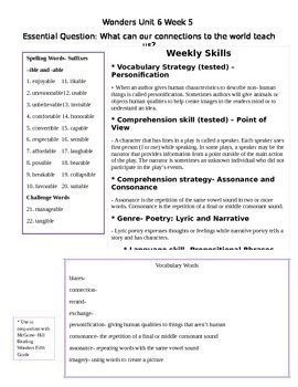 Fifth Grade Unit 6 Week 5 Study Guide McGraw Hill Wonders