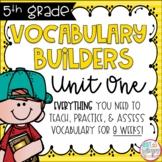 Fifth Grade Vocabulary Builders Unit 1