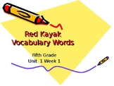 5th Grade Vocabulary Pearson Reading Street Unit 1 Week 1
