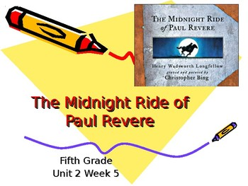 5th Grade Vocabulary Pearson Reading Street Unit 2 Week 5 PP - The Midnight Ride