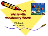 5th Grade Vocabulary Pearson Reading Street Unit 4 Week 1