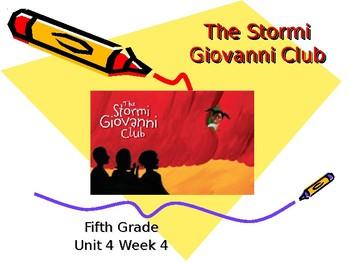 5th Grade Vocab Pearson Reading Street Unit 4 Week 4 PP - The Stormi Giovanni