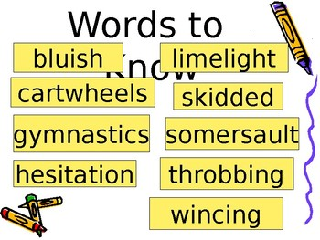 5th Grade Vocabulary Pearson Reading Street Unit 4 Week 5 PP - The Gymnast